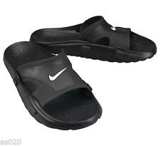 NEW Nike Getasandal Mens Black Slip On Flip Flop Beach Pool Sandals - All Sizes
