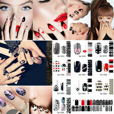 Classic Color Full Sheet Self Adhesive Nail Art Decals Stickers Manicure Wraps