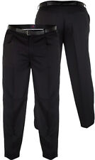 "MENS TROUSERS SMART BLACK 42""44""46""48""50""52""54""56""58""60"""