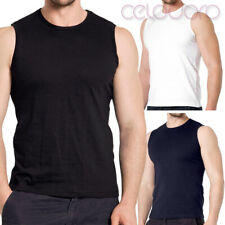 3er Pack Herren Sleeveless Shirt Tank Top Muskelshirt celodoro Exclusive S-XXL