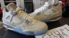 Nike Air Jordan Retro IV 4 Laser White Chrome Metallic Silver 3M 30th LS Limited