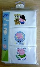 NEW Toddler Boys Character PEPPA PIG GEORGE Vests Cotton Underwear PK3 All Sizes