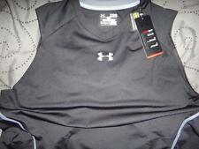 """UNDER ARMOUR FITTED """"V"""" NECK SLEEVELESS SHIRT TANK SIZE XXL XL M MENS NWT $$$$"""