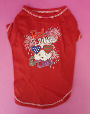 DOG TOP CLOTHES RED BOY CHIHUAHUA YORKIE PUG MALTESE POMERIANIAN X SMALL SMALL