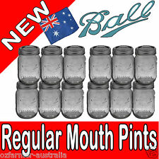 Ball Mason Regular Mouth Pints Canning Preserving Weddings 1 Box or More