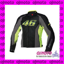 DAINESE 1735171 GIACCA DAINESE MOTO VR46 AIR TEX (NERO-GIALLO FLUO)
