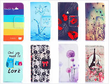 new painting graffiti Card hold wallet Flip Leather skin cover case for phones