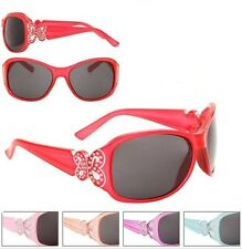 Rhinestone Butterfly Sunglasses Shades Kids Childrens Girls 100% UV Protection