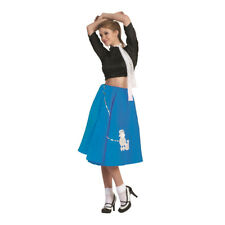 Blue Poodle Skirt 50's Scarf Sock Hop 1950's Retro Grease Sandra Dee Adult New