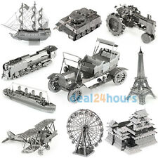 New Nano 3D Laser Cut Metal Jigsaw Model Kids Boy Girl DIY Toy 3D Puzzles Gift