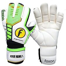 Foxon Goalkeeper Goalie Roll Finger Saver Gloves League Pro Size 6 7 8 9 10