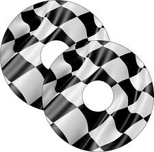 Wheelchair Spoke Guards Skins Checkered Flag Custom Design Mobility Accessories