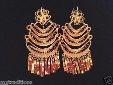 Mexican Filigree Earrings Handmade from Oaxaca Style#MG1305.Aretes de Filigrana.
