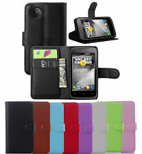 Slim Card hold wallet Pouch Flip PU Leather case cover for Lenovo A369 A369i