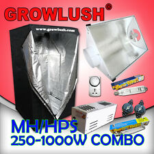 250-1000W Magnetic Grow tent Cool Vent combo with MH/HPS lamps Timer & Yoyo