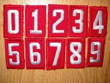 BOY SCOUT RED TROOP UNIT NUMERAL - YOUR CHOICE of Number/Quantity