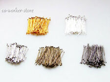 1000pcs 500pcs 100pcs silver gold dull silver bronze Plated head pin 20-50mm