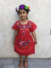 Mexican Girl Children Embroidered Dress 5 De Mayo,Mexican Fiesta.Vestido De Niña