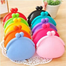 Silicone Round Coin Purse Wallet Candy Card Rubber Key Phone Frog Design Bag New