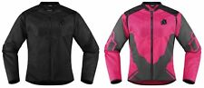 Icon Womens Anthem 2 Armored Fighter Mesh Motorcycle Riding Jacket 2015