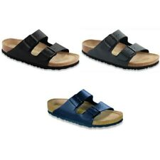 Birkenstock Arizona Sandals - Soft Footbed - black brown blue - Birko-Flor