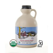100% Pure Vermont Organic Maple Syrup - Quart - Hidden Springs