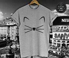 KITTY KITTEN T-SHIRT KALE FELINE MEOW CRAZY CAT LADY GRUMPY HIPSTER TOP NEW