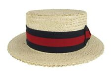Straw Boater Skimmer Hat Campaign Boardwalk Barbershop Quartet Italian Costume