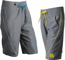NEW Nookie Boardies (2015) - Grey with Blue or Yellow - Board Shorts Surf Summer