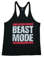 Mens Workout Tank Top-Racerback-Stringer Gym-Bodybuilding Tee T-Shirt