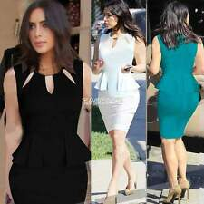 Womens Vintage Office Wear to work Party Bodycon Pencil Career Dresses 5 Size