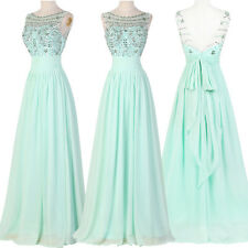 Long Ball gown bridesmaid Prom Dress Graduation Homecoming Formal Evening Party