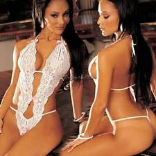 New Sexy lingerie Sexy underwear women lady dress Lace Jumpsuits White