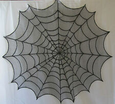"""Yankee Candle Boney Bunch Black Lace Doily Spider Web 20"""" or 30"""" Round"""