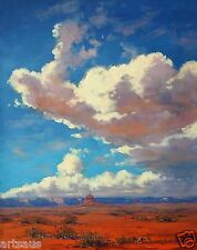 Utah Desert Painting Sky Clouds Painting Southwestern Artwork in Oil by Gercken