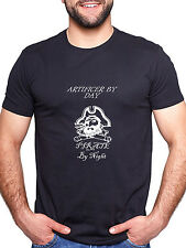 ARTIFICER BY DAY PIRATE BY NIGHT PERSONALISED T SHIRT FUNNY