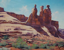 Desert Painting Utah Canyon Monument Valley Landscape Southwestern Fine Art