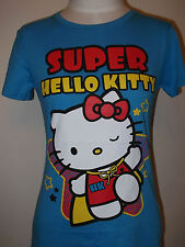 HELLO KITTY SUPER Women's  Junior T-shirt Tee Sanrio   M L Blue