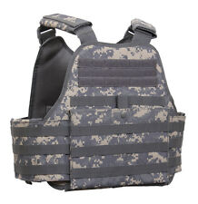 plate carrier vest molle tactical acu digital camo adjustable rothco 8932