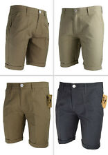 MENS CASUAL CHINO SHORTS ROLL UP BOTTOMS SUMMER COTTON  HALF PANTS NEW ALL SIZE