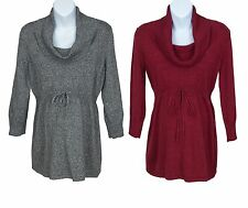 Oh Baby by Motherhood Cowlneck Babydoll Maternity Sweater Top - Gray or Red -NWT