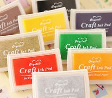 Large Craft Ink Pad for Rubber Stamps, 13 Colours - Paper Wood Fabric