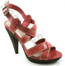 Strap Shoes for Ladies Laceys Platform Pink Leather Strappy JC Pilar Size 4-7