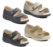 Padders SHORE Womens Ladies Casual Comfy Leather Super EEEE Wide Velcro Sandals