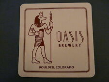 Beer Coaster: OASIS Brewery ~*~ Boulder, CO Brewing Company ~*~ Anubis ** CLOSED