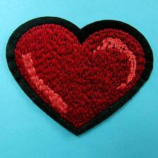 Heart Love Sweet Red Iron on Sew Patch Applique Embroidered Biker Baby Cute Sexy