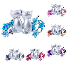 Crystal Animals Brooch Pins Rhinestone Flower Wedding Fashion Jewelry Gifts New