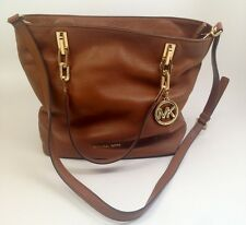 Michael Kors Brooke Medium Tote Leather Shoulder Handbag Purse Tan