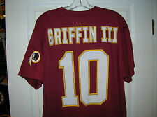 RGIII ROBERT GRIFFIN III REDSKINS NAME AND NUMBER ADULT  SHORT SLEEVE T-SHIRT