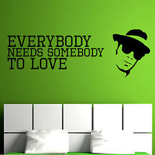 THE BLUES BROTHERS, Song, Lyrics, Love, Somebody Wall Sticker, Wallart, SS7